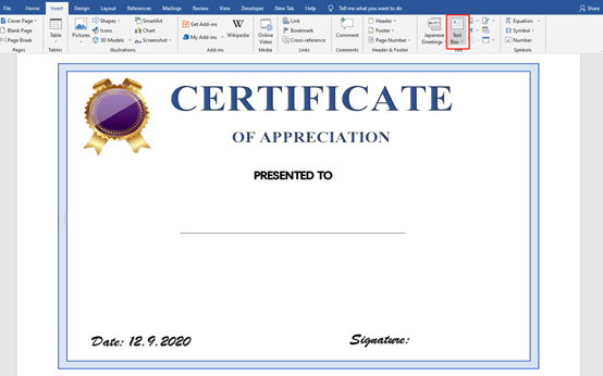 How To Create Certificate In Batch In Microsoft Word