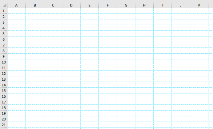 How to Change the Color of the Gridline in Worksheet