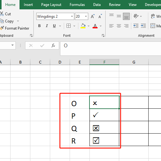 How To Insert Tick And Cross Marks Quickly In Microsoft Excel