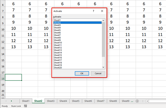How To Quickly Switch Worksheets In Excel