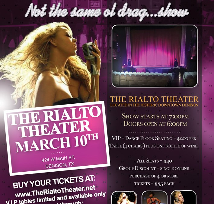 The Rialto Theater, Denison Texas | My Oh My - The Show