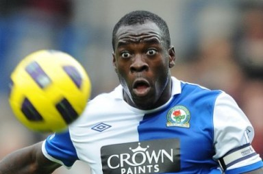 Chris Samba frequently on the losing side against Villa, when with Blackburn