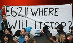 Manchester City fans make their views known