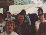 Coach Backrow Villa fans - Rotterdam 1982
