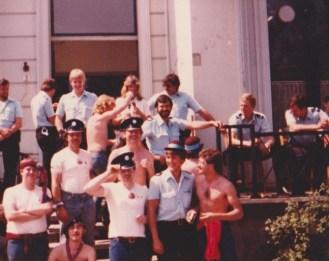 Villa fans Try On Old Bills Hat - Rotterdam 1982