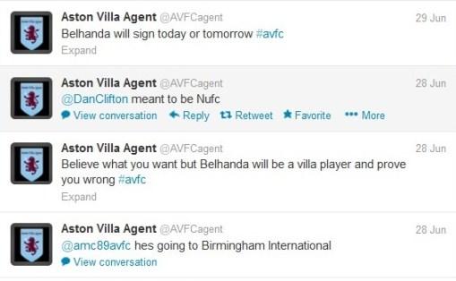 Belhanda Aston Villa ITK Rubbish