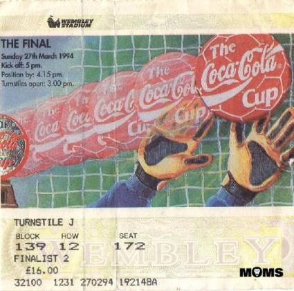 league cup final ticket 1994