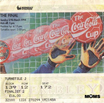 league cup final ticket 1994