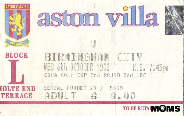 villa blues ticket 1993