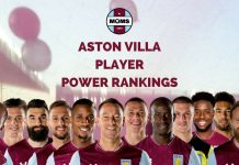 ASTON VILLA PLAYER POWER RANKINGS