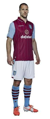 ron vlaar aston villa new kit 2014