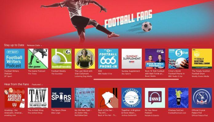 apple podcast football fans