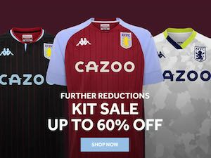 Aston Villa shirt sales