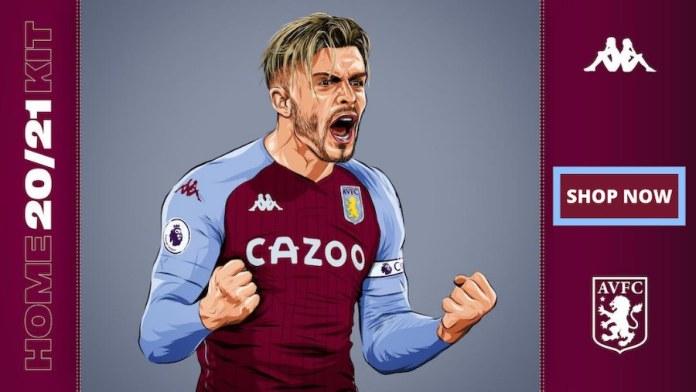 Jack Grealish new Villa kit