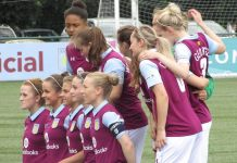 aston villa ladies line up