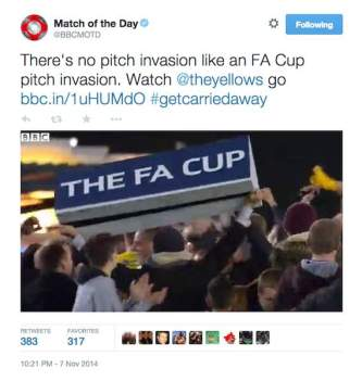 Match of the Day Aston Villa FA Cup pitch invasion