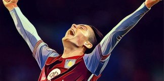 Jack Grealish celebrates Aston Villa goal