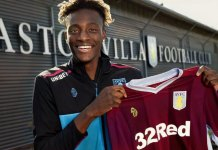 Tammy Abraham Aston Villa shirt loan