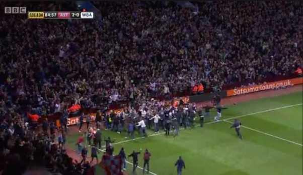 Villa scored no stewards in Witton corner