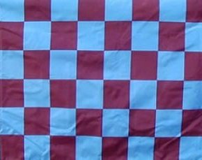 claret and blue flag