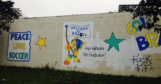 brazil world cup graffiti