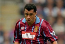 Paul McGrath Aston Villa Muller shirt