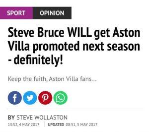 aston villa definitely promoted