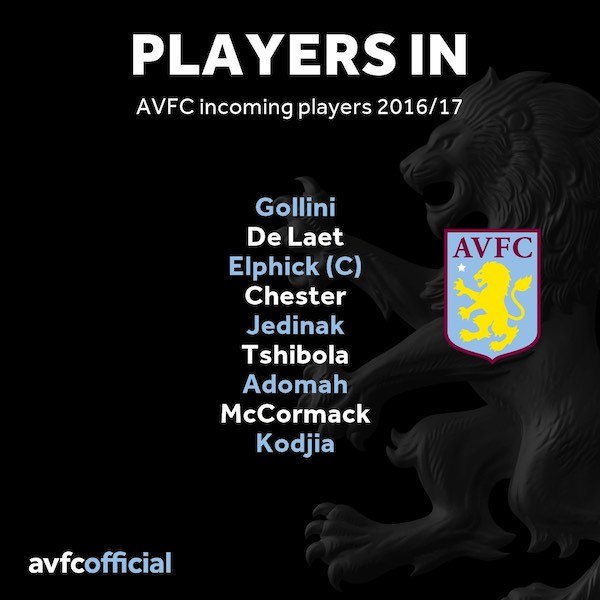 aston villa players in transfer window