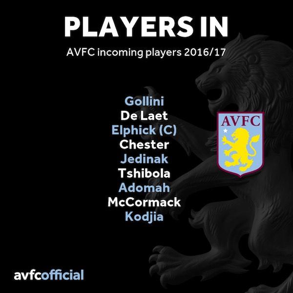 aston villa players in transfer window