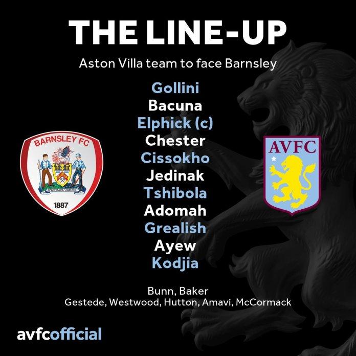 Barnsley line-up