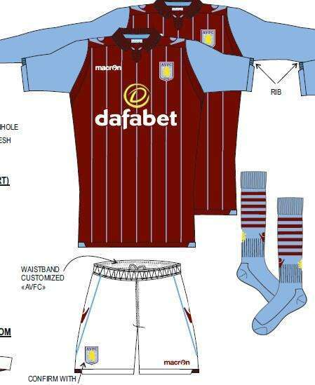 aston villa home kit 2014