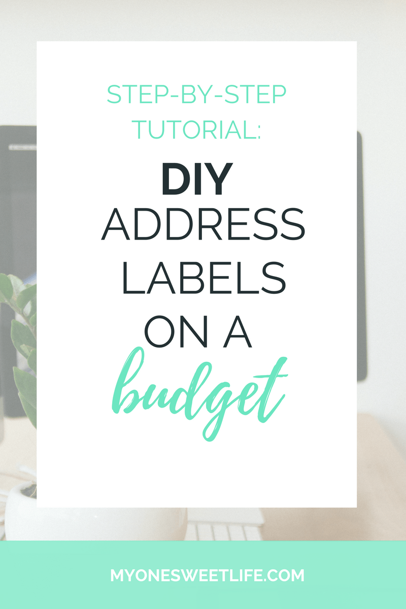 Create Your Own Return Address Labels On a 1 Budget