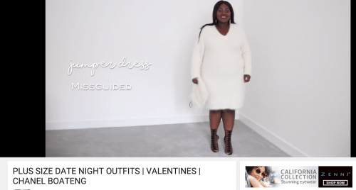 PLUS SIZE DATE NIGHT OUTFITS VALENTINES CHANEL BOATENG YouTube