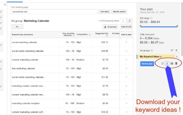 how to use the Google Keyword planner tool 2