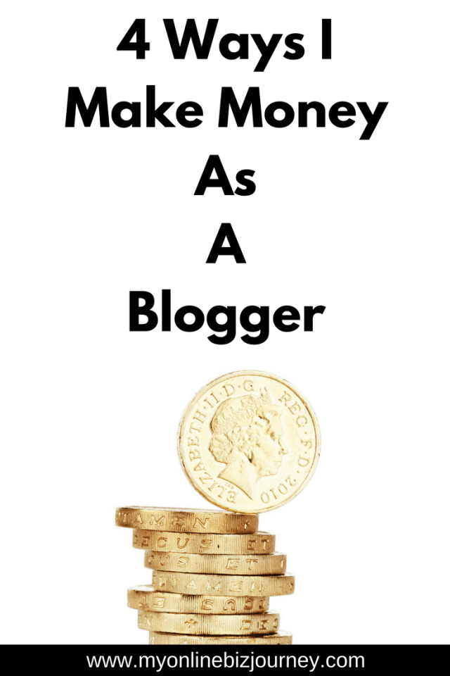 Make Money As A Blogger : Have you ever wondered how people make money blogging ? Here are 4 ways I personally make money with my blog.