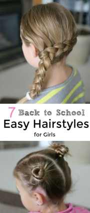 7 school easy hairstyles