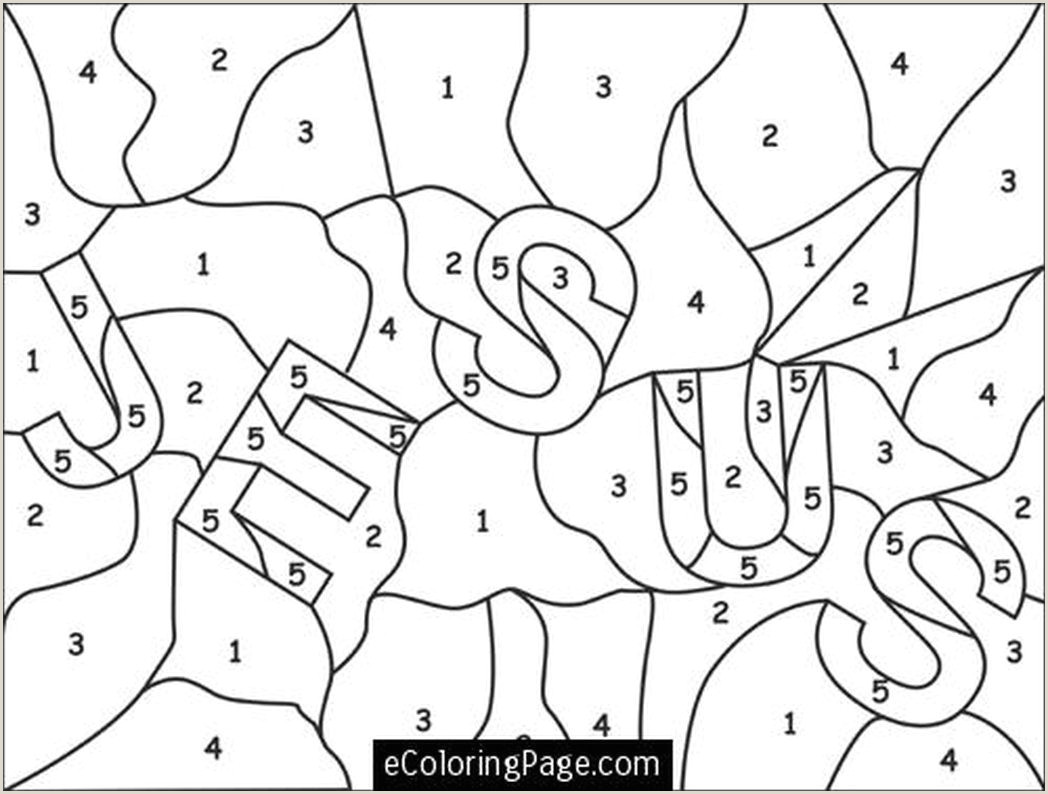 Mystery Color By Number Coloring Pages