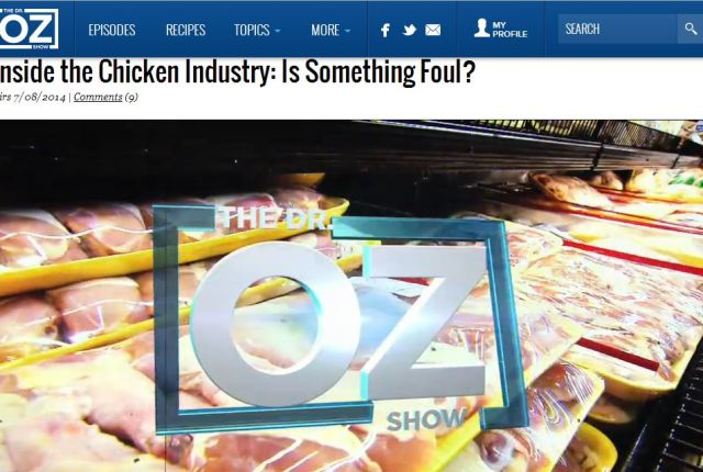 Dr. Oz Cries Foul Over Fowl | via MyOtherMoreExcitingSelf.wordpress.com