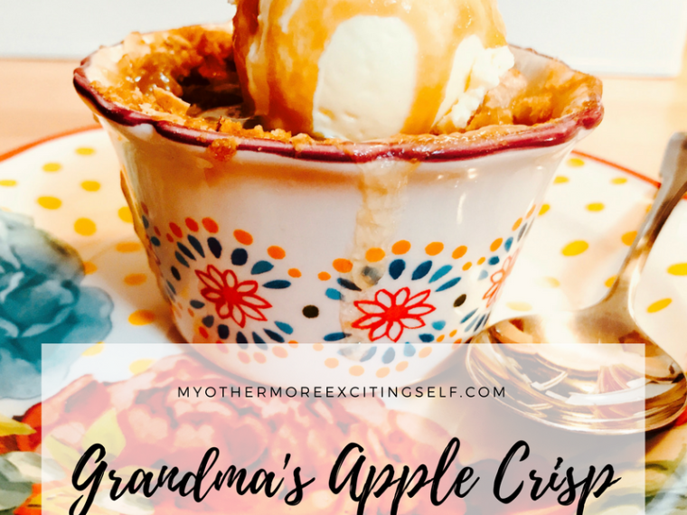 Grandma's Apple Crisp Recipe | MyOtherMoreExcitingSelf.com