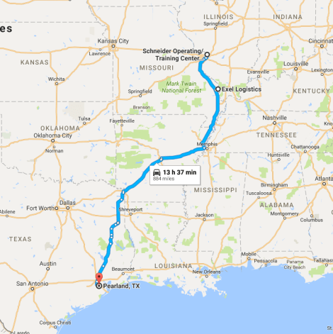 Neelys Landing to Houston Route