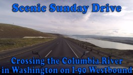 Scenic Sunday Drive – Crossing the Columbia River in Washington on I-90 [Video]