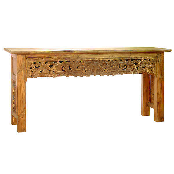 teak sofa table england sleeper with full size mattress tables quality furniture manufacturer console carvings