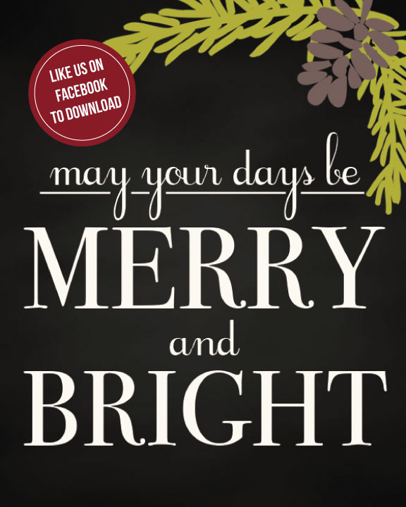 exclusive fb freebie merry bright printable