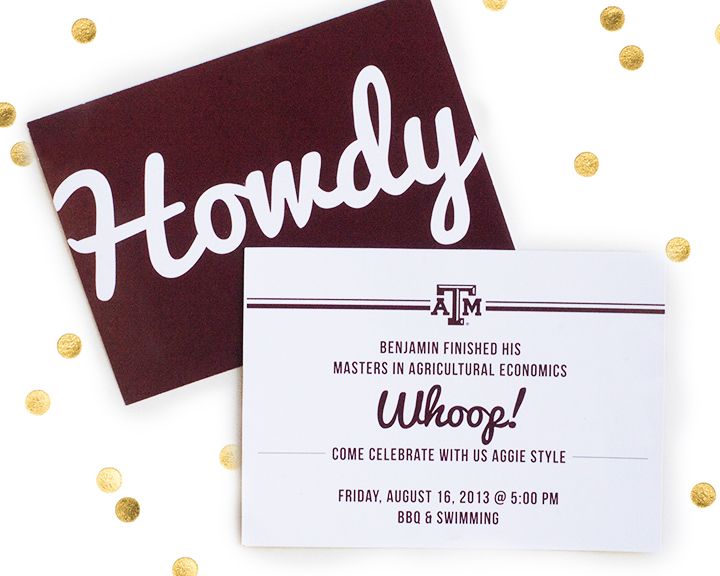 Aggie Howdy Grad Announcement | Texas A&M Grads | My Own Brand Of Happy