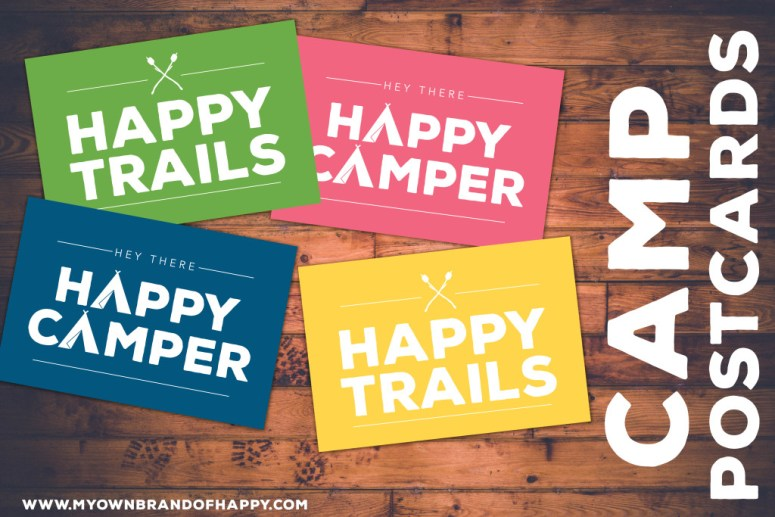 Camp Postcards |LDS Young Women | Freebie |My Own Brand Of Happy