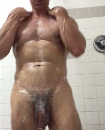 hung daddy in showers
