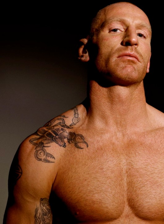 rugby player- gareth thomas- naked- in the lockerroom