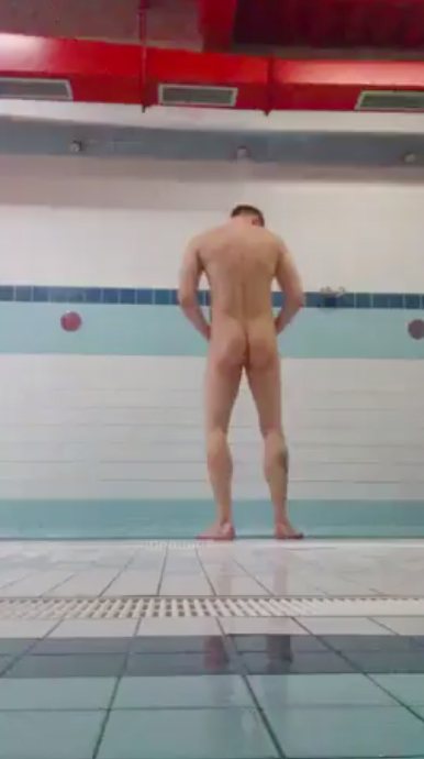 Hunk naked in showers hot butt