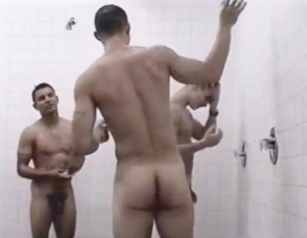 nude soldiers showering