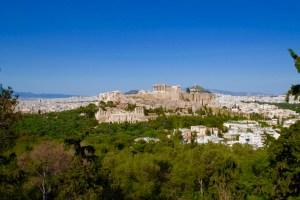 vue sur l'Acropole depuis la colline de Filopappou